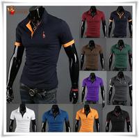 Special Supply  10 colors Summer shirt Plus Size small deer Picture men's shirt brand shirt men short sleeve shirt plocheap free