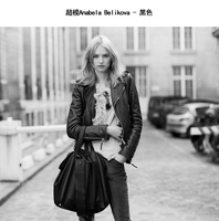 Sheepskin 2013 autumn fashion coat leather clothing female short design slim leather jacket women genuine leather motorcycle
