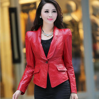 Free shipping T classic blazer suit outerwear sheepskin genuine leather female leather clothing
