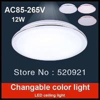AC85-265V 12W allochroic SMD LED ceiling light Balcony lamp kitchen lamp aisle lights living room light led morden bedroom lamp