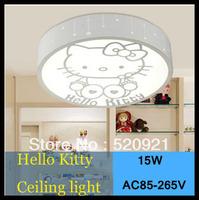 AC85-265V 15W LED ceiling light child bedroom lights girl boy led ceiling light small hello kitty cartoon eye lamp study lamp