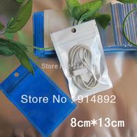 free  shipping Wholesale  8*13CM  translucent ziplock/Zipper Top bags