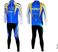 rona men's cycling jersey winter thermal Long sleeve + cycling pants cycling clothes Bicycle bike clothes