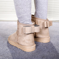 Free Shipping 2013 snow boots short boots cotton-padded shoes bow thermal slip-resistant flat heel winter women's shoes