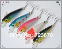 Promotions! 10 pcs/lot 5cm/3g minnow fishing hard lure fishing bait free shipping