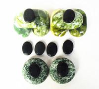 Massage stones massage Natural Energy massage stone set spa rock stone Green jade rock stone massage SPA 16pcs/lot