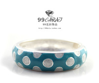 99 fashion accessories sploshes quality blue bangles iz