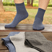 Male cotton socks  men's socks solid color socks