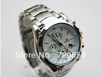 Free shipping 2013 fashion sport watch dual time display  high quality full steel quartz wristwatch luxury  brand watches