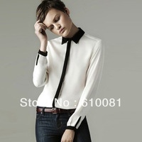 Free shipping fashion brand Fashion women trendsetters choice Wholesale ladies collision color frock shirt blouse