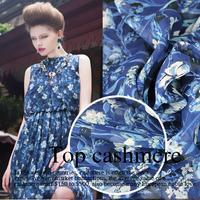 Hot Sell printed  silk chiffon  fabric for skirt DIY