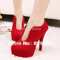 Free shipping 2014 new women pumps Thin heels high-heeled shoes princess fashion platform shoes