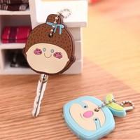 Free shipping Creative cute cartoon silicone key chain / key sets key case Lovely gift 20pcs/lot