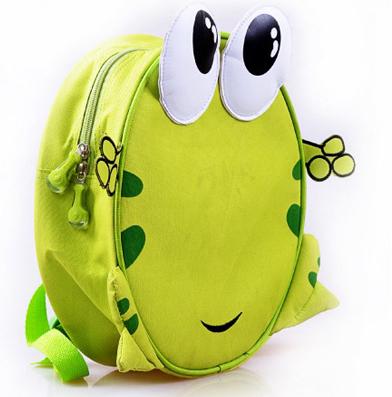 Enfants sac à dos l'école maternelle grenouille. green bean bag