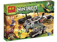 Bole genuine high quality educational toys, children's building blocks assembled ultrasound phantom ninjas chase 9788