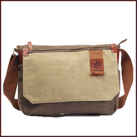 Male High Quality Canvas Casual  Messenger  Book  Bag