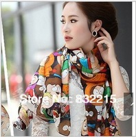 Supernova sale very cheap scarf wholesale women's shawl scarves cute style promotion!!!