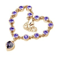 New Arrival Austrian Crystals Heart Crystal Bracelet Jewelry Fashion Free Shipping  BAJ 006
