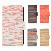 Wholesale,New colorful Street graffiti wall wood design leather PU flip case cover for Millet M3