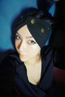 12231Head Wraps/Fashion Hair Accessories/Elastic Head Band For Girls,Women,Sport/Metal Peace Charm