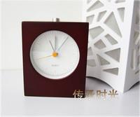 Wholesale Sample plastic case Wood eye-lantern luminous alarm clock brief clock lounged mute oak