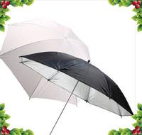 Free shipping + tracking number 2PCS 33inch 83cm Diffuser Translucent Photo Studio Flash Soft Umbrella White+Black UK