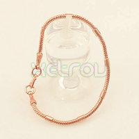 Free Shipping Men Women 3.5mm 21cm 18K Rose Gold Filled Bracelet Exquisite Snake Chain RB52