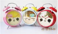 Wholesale Sample plastic case Quieten eye-lantern 4 alarm clock lounged cartoon metal luminous clock