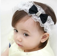 Baby Girl's Lovely Pure color bowknot baby Headband Headwear Hair Accessories Infant Hair Band-17