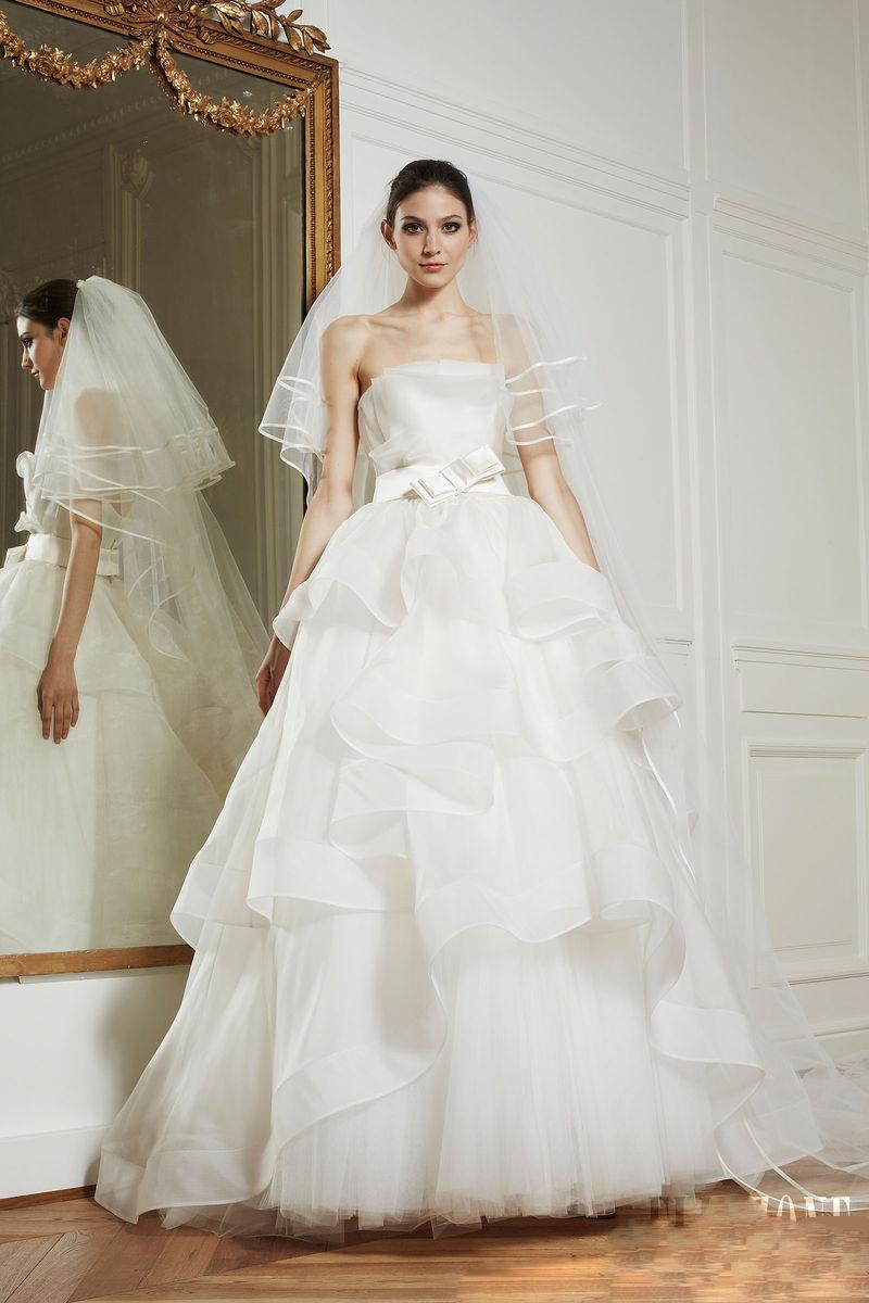 tulle tiers skirt waistband 2013 zuhair murad bridal gown
