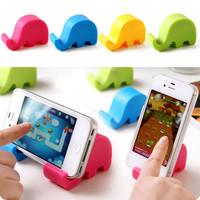 Free shiping Creative cute elephant soft phone handset cradle electric cradle phone holder 10pcs/lot