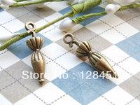Free shipping 100 pcs 8x26mm Antique Bronze Umbrella Pendants Charms