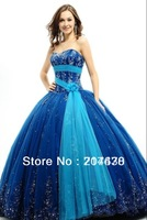 2014 everlasting love New Design Classic Brisk Modest Appliqued Organza Sweetheart Royal Blue Quinceanera Dress Custom Made