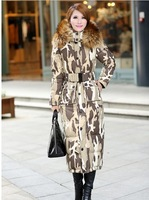 2013 new winter camouflage jacket super draw money long MAO super thick coats