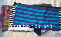 free shipping top sale Seamless high elastic and comfortable silky striped Boxer Shorts briefs