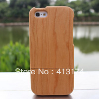 New Hot Sale bamboo wood case cover for iPhone 5c (cherry) + 1piece film screen protector = 2pieces/lot