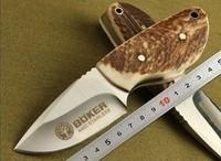 Promotional Antlers Handle 7Cr17 Bl;ade OEM Boker Thumb Shape Pocket/Fruit/Gift Knife Utility Hand Tools cz158