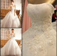 2013 Hot sale Elegant  Sweetheart Beaded Wedding Dress Party dress Custom-made Weddings & Events