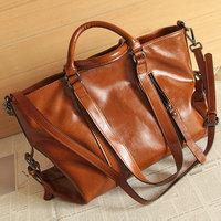 Fashion brief vintage motorcycle bag ol work bag oil multifunctional leather female bags handbag
