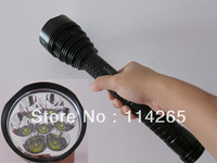 1 pcsTrustFire torch 7T6 7*Cree XM-L 5-Mode LED 8000LM torch flashlight+extend tubes(3*26650/3*18650)