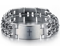 2013 jewelry classic male bible cross belt health care function titanium bracelet  1 pieces