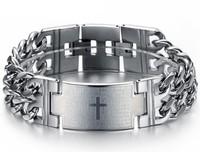 2013 jewelry classic male bible cross belt health care function titanium bracelet  1 pieces