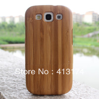 Bamboo wood case cover for Samsung Galaxy S3 (dark bamboo) + 1piece film screen protector = 2pieces/lot  for samsung i9300/S3