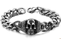 Fashion skull titanium male bracelet Men jewelry bracelet jewelry  1 pieces