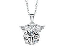 Fashion accessories diamond 925 pure silver Women necklace gold white three-color  1 pieces
