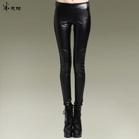 2012 winter new arrival fashion all-match patchwork plus size legging boot cut jeans female