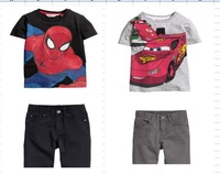Free Shipping(6set/lot)Brand New Boys Suits boys T shirts+Jean 2pcs Suits Fashion Boys SpidermanOutfits kids suits