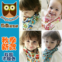 3431 autumn princess child 100% bib cotton baby bib double layer