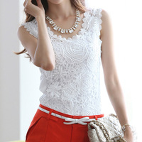 100% cotton modal plus size spaghetti strap embroidery floral lace crochet vest tank top sleeveless basic shirt roupas femininas