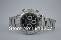 The new white steel strap black surface mechanical popular luxury watches men